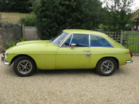 Classic 1974 MGB GT with overdrive