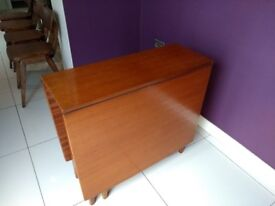 Ercol style folding leaf table