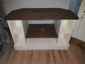 Shabby chic solid pine tv unit