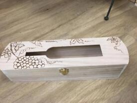 Pyrography wine box. Sisters cabinet