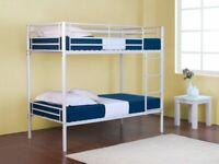 💖furniture free💖Kids Bunk Bed-Single Metal Bunk Bed Frame W Optional Mattresses