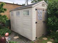 Keter double door 3m x 2 m plastic garden shed