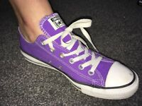 Converse All Star Pumps - Purple Size 7