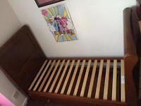 Sleigh cotbed with sides (not shown in picture) & Matching baby changer