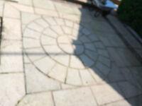 Slab Stone Riven Circle 1.800m Diameter - Grey