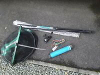 KINGFISHER FISHING EQUIPMENT/GEAR ROD,NET,REEL & FLOATS. (SWINDON).