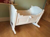 Handmade Solid Pine Baby Crib
