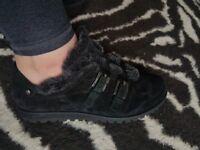 STUART WEITZMAN black sport suede shoes UK size 6/6.5