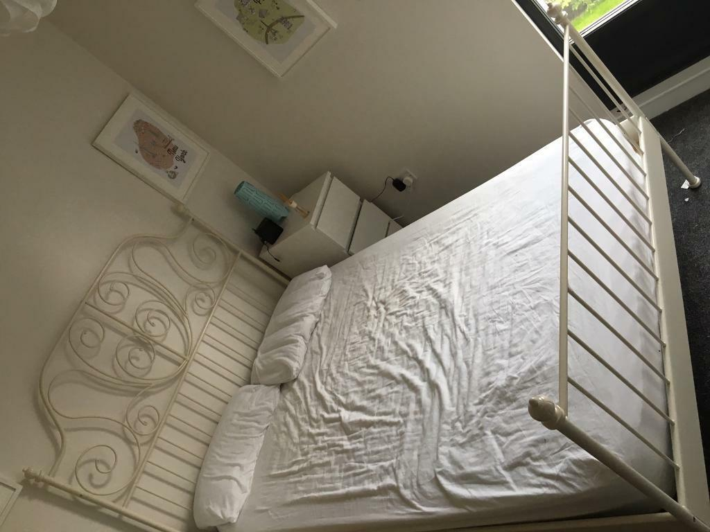 Ikea Double Bed Frame and Mattress ready for collection