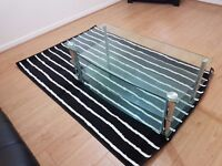 Stunning glass tv unit with 3 shelves