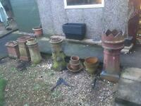 Old Victorian Chimney pots