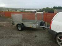 Ifor williams p7e trailer with mesh greedy sides