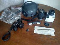 Sony Alpha A6000 24.3MP Digital Camera - Black /w THREE LENSES and Accessories!