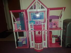Barbie dolls house with lift and all accessories included, in exellent condition.