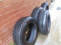 Set of 4 Continental Winter Tyres 195/65 R15 plus 1 Regular 195/65 R15 Tyre