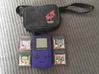 Nintendo gameboy colour with games