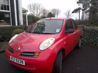 Nissan Micra 2004 in excellent condition. Low mileage,.