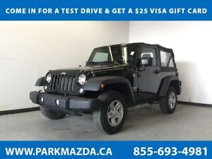 2015 Jeep Wrangler Sport 4WD - Remote Start, A/C, Full Size Spar