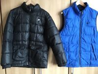 Nike coat and nike Vest size M Great condition