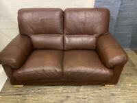 REAL LEATHER SOFA 2 SEATER IN EXCELLENT CONDITION