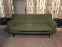 House of Fraser Green 3 Seater Sofa