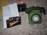 Telephone Green Retro TV memorabilia