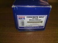 Concrete Bolts M12 x 150mm contains 20 bolts