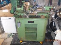MYFORD SUPER7 METAL LATHE WITH POWER CROSS FEED VERY NICE WITH STAND AND A FEW BITS AS PER PICTURES