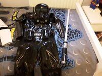 Star Wars Costume & Lightsaber Age 7-8yrs ***NEVER WORN***