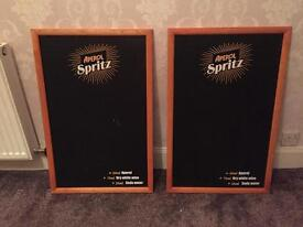 Two large chalk boards