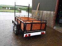 8ftx4ft twin axle trailer