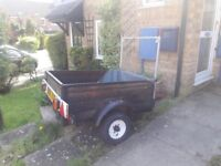 3ft by 4ft trailer - no suspension or wheels included