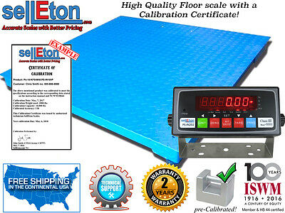 Industrial Logistics Pallet Size 4 X 4   48 X48  Floor Scale   Calibration Cert