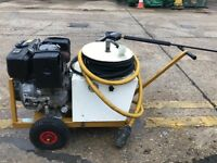 Honda diesel pressure washer on wheels, electric start, runs and works well