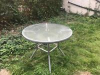 Garden glass table