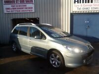 Peugeot 307 SW Semi Auto, Rare 7 seater Auto,full MOT,runs and drives well,great mpg,63k,SG56MPV