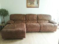 Very large Harveys Sandbridge brown suede Corner Sofa - 4 months old