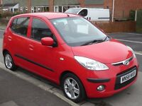 hyundai i10 1.2 comfort 2008 1248 cc a/c e/L windows alloy wheels service history £30 road tax