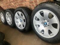 "NEW Genuine BMW X3 17"" alloy wheels +NEW Pirelli Winter tyres VW T5 T6 5x120 RRP£1200 CAN POST"