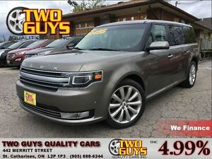 2013 Ford Flex LTD AWD ECOBOOST VISTAROOF NAV LEATHER CHROME RIM
