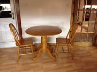Julian Bowen Dundee drop leaf dining table with 2 chairs