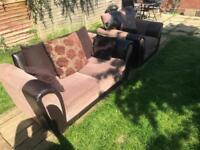 Scs 2 +1 sofa brown