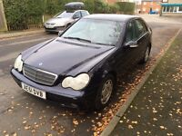 MERCEDES-BENZ C CLASS 2001 W203 2.0 C180 CLASSIC 4 DR SPARES OR REPAIRS