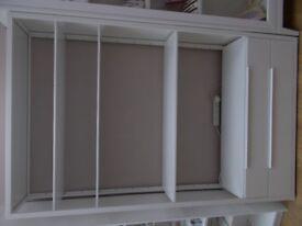 Qty 2 Ikea Fjalkinge units with drawers. Colour white.