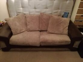 2 sofas and a cabinet unit