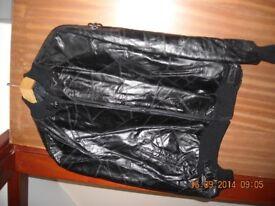Men's patchwork real leather jacket
