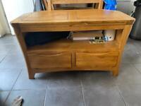 Solid oak furniture land TV unit 'Orrick'