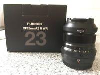Fujinon XF 23mm F2 R WR lens (black) Fuji Fujifilm - COLLECT ONLY