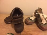 Timberland boots and gap trainers size 8