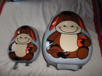 Two kids suitcase and back-pack sets